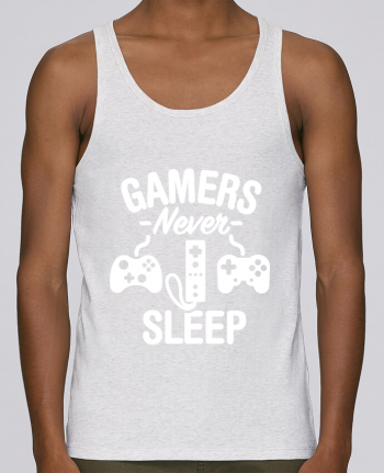 Tank Top Men Stanley Runs Organic cotton Gamers never sleep by LaundryFactory 100% coton bio