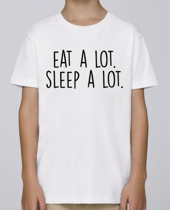 Tee Shirt Boy Stanley Mini Paint Eat a lot. Sleep a lot. by Bichette