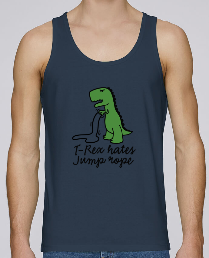 Tank Top Men Stanley Runs Organic cotton TREX HATES JUMP ROPE by LaundryFactory 100% coton bio