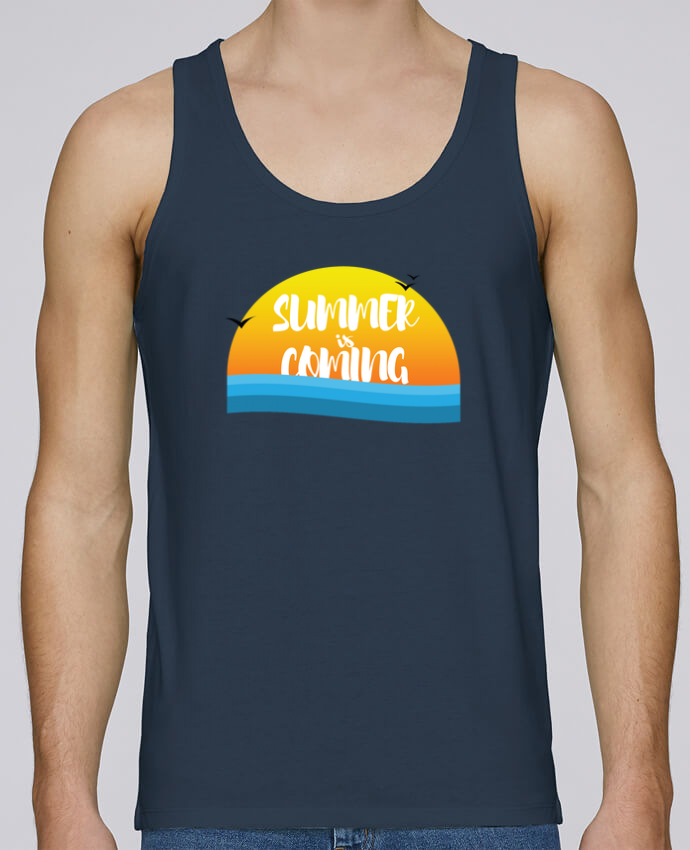 Tank Top Men Stanley Runs Organic cotton Summer is coming by tunetoo 100% coton bio