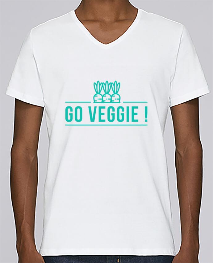 T-shirt V-neck Men Stanley Relaxes Go veggie ! by Folie douce