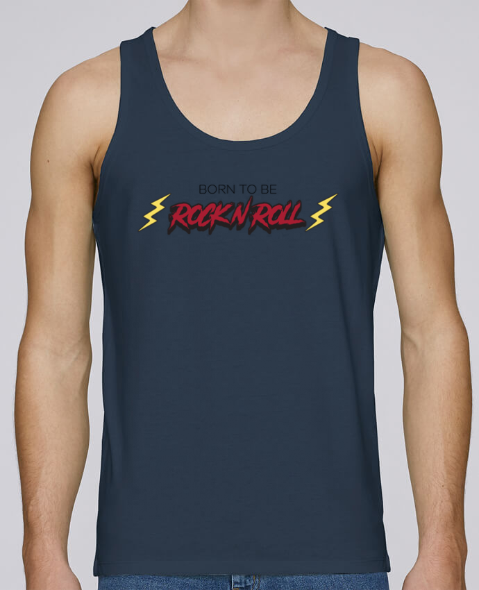 Tank Top Men Stanley Runs Organic cotton Born to be rock n roll by tunetoo 100% coton bio