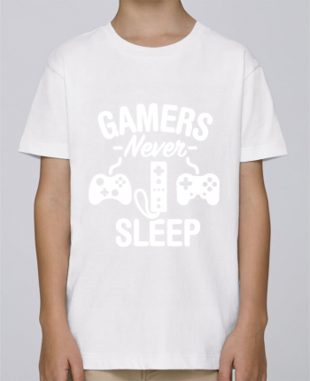 Tee Shirt Boy Stanley Mini Paint Gamers never sleep by LaundryFactory