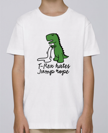 Tee Shirt Boy Stanley Mini Paint TREX HATES JUMP ROPE by LaundryFactory