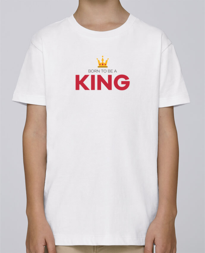 Tee Shirt Boy Stanley Mini Paint Born to be a king by tunetoo