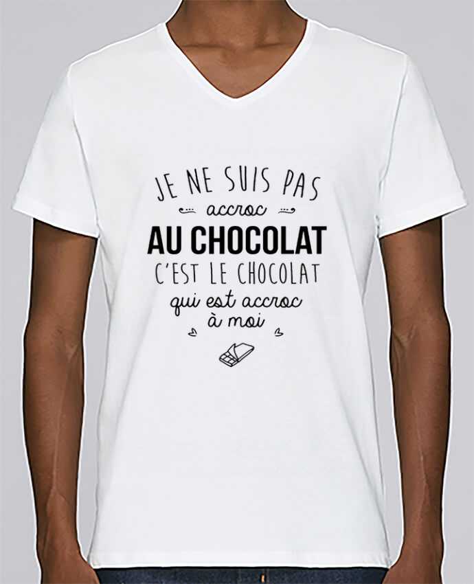 T-shirt V-neck Men Stanley Relaxes choco addict by DesignMe