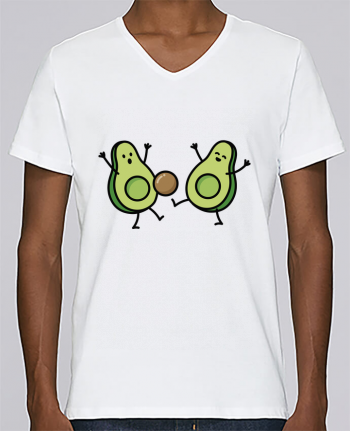 T-shirt V-neck Men Stanley Relaxes Avocado soccer by LaundryFactory