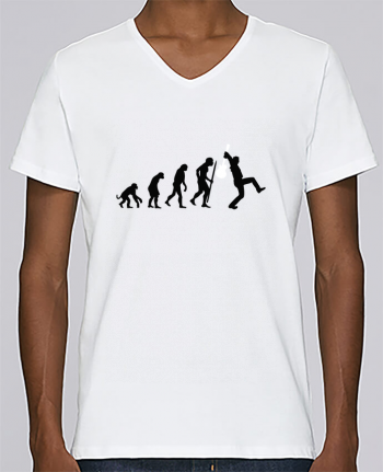 T-shirt V-neck Men Stanley Relaxes Evolution Rock by LaundryFactory
