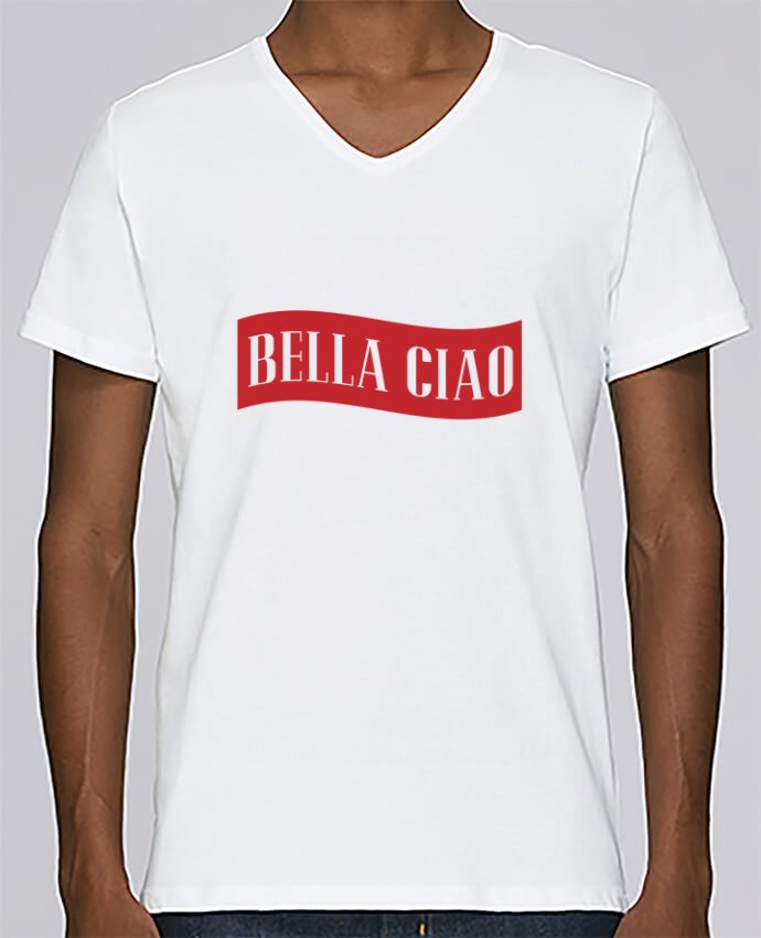 T-shirt V-neck Men Stanley Relaxes BELLA CIAO by tunetoo