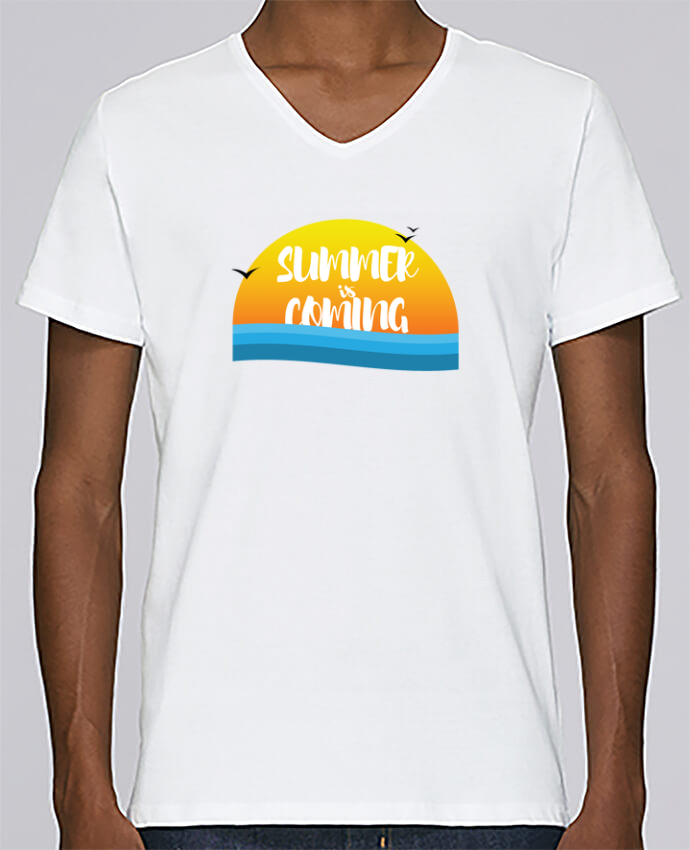 T-shirt V-neck Men Stanley Relaxes Summer is coming by tunetoo