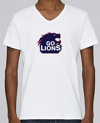 T-shirt V-neck Men Stanley Relaxes Go Lions by tunetoo