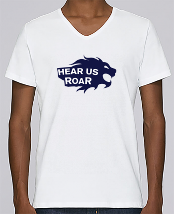 T-shirt V-neck Men Stanley Relaxes Hear us Roar by tunetoo