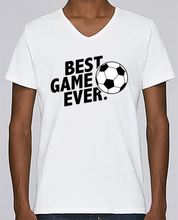 T-shirt V-neck Men Stanley Relaxes BEST GAME EVER Football by tunetoo