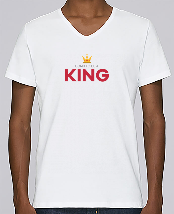 T-shirt V-neck Men Stanley Relaxes Born to be a king by tunetoo