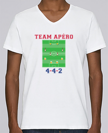 T-shirt V-neck Men Stanley Relaxes Team apéro football by tunetoo