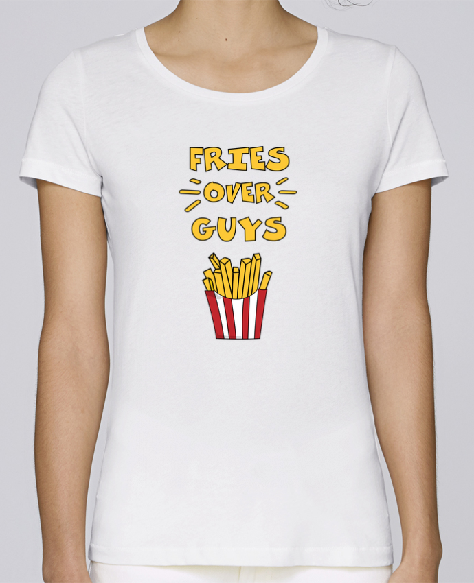 T-shirt Women Stella Loves Fries over guys by tunetoo