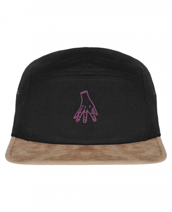 5 Panel Cap suede effect visor Main Famille Adams by tunetoo