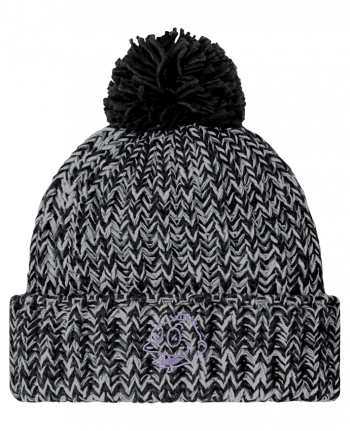 Bonnet pompon twist Razmoket brodé by tunetoo