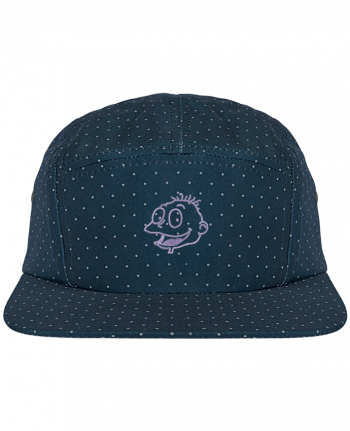 5 Panel Cap dot pattern Razmoket brodé by tunetoo