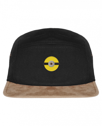 5 Panel Cap suede effect visor Minion rond brodé by tunetoo