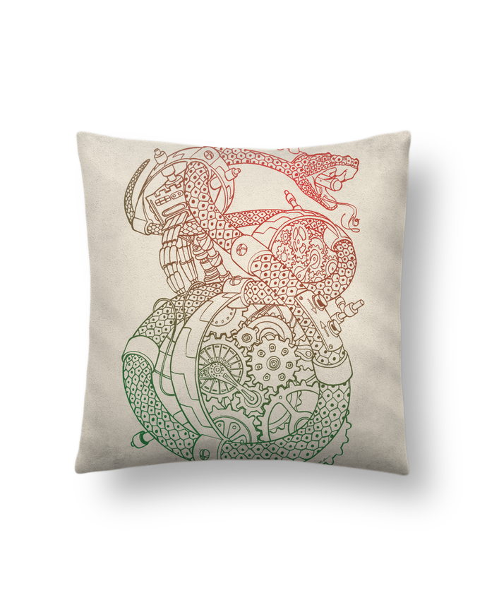 Cushion suede touch 45 x 45 cm Méca Serpent by Tomi Ax