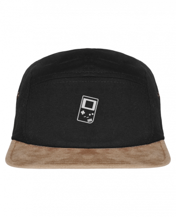 5 Panel Cap suede effect visor Gameboy brodé by tunetoo