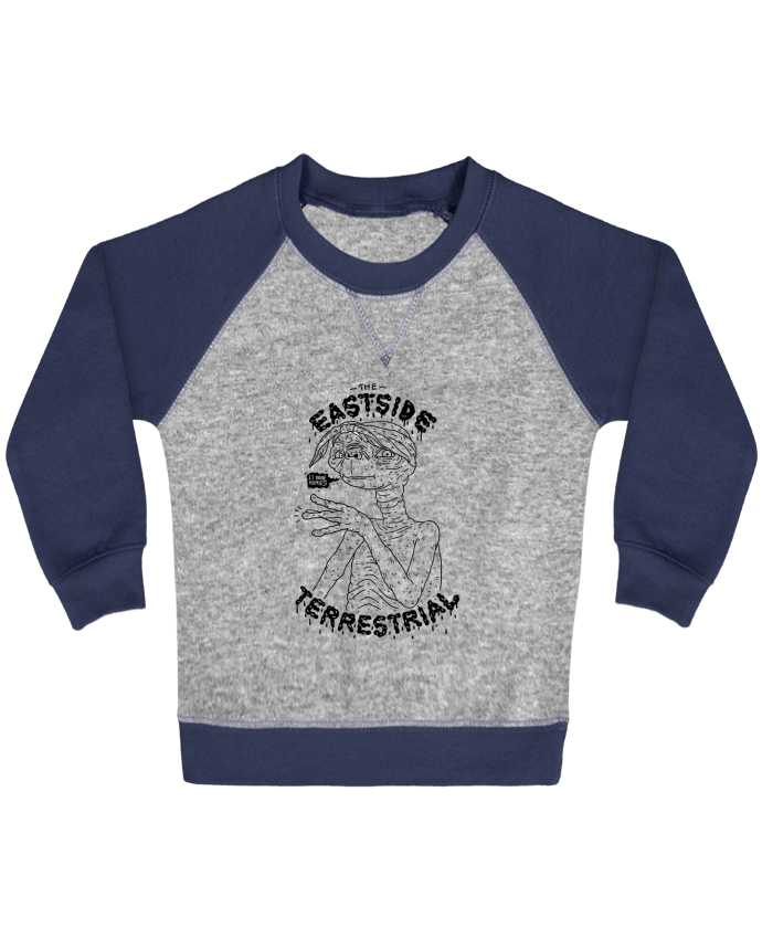 Sweatshirt Baby crew-neck sleeves contrast raglan Gangster E.T by Nick cocozza
