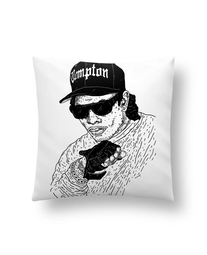 Cushion synthetic soft 45 x 45 cm Eazy E Rapper by Nick cocozza