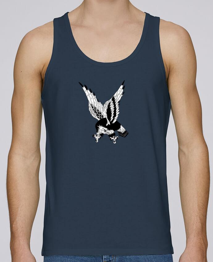 Tank Top Men Stanley Runs Organic cotton Eagle Art by Nick cocozza 100% coton bio
