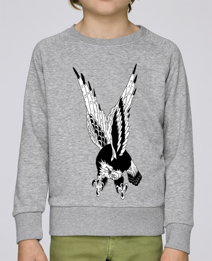 Sweatshirt Kids round neck Stanley Mini Scouts Eagle Art by Nick cocozza