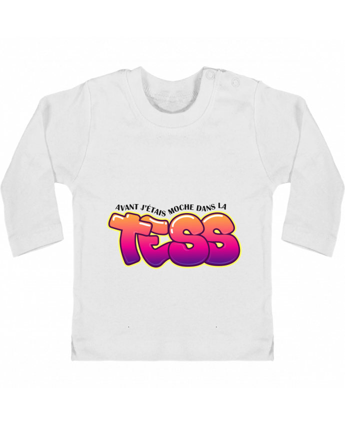 Baby T-shirt with press-studs long sleeve PNL Moche dans la Tess manches longues du designer tunetoo