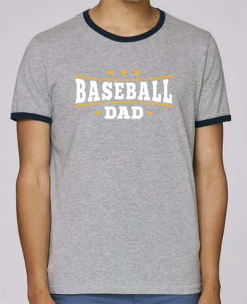 Stanley Contrasting Ringer T-Shirt Holds Baseball Dad pour femme by Original t-shirt