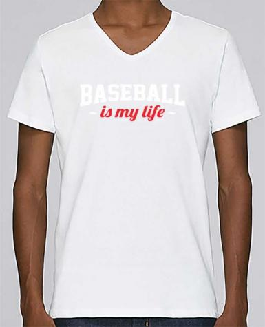 T-shirt V-neck Men Stanley Relaxes Baseball is my life by Original t-shirt