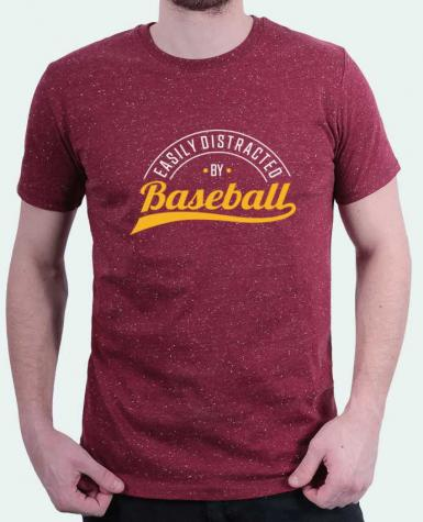 T-Shirt Men Stanley Hips Distracted by Baseball by Original t-shirt