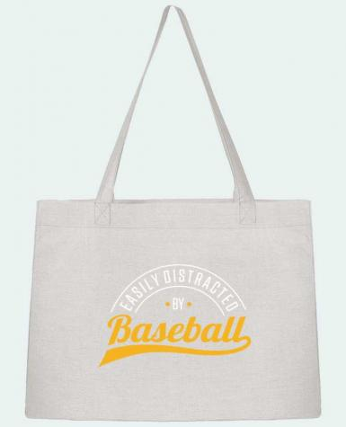 Shopping tote bag Stanley Stella Distracted by Baseball by Original t-shirt