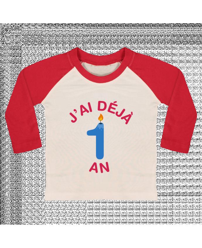 T-shirt baby Baseball long sleeve Déjà 1 ans Cadeau bébé by tunetoo