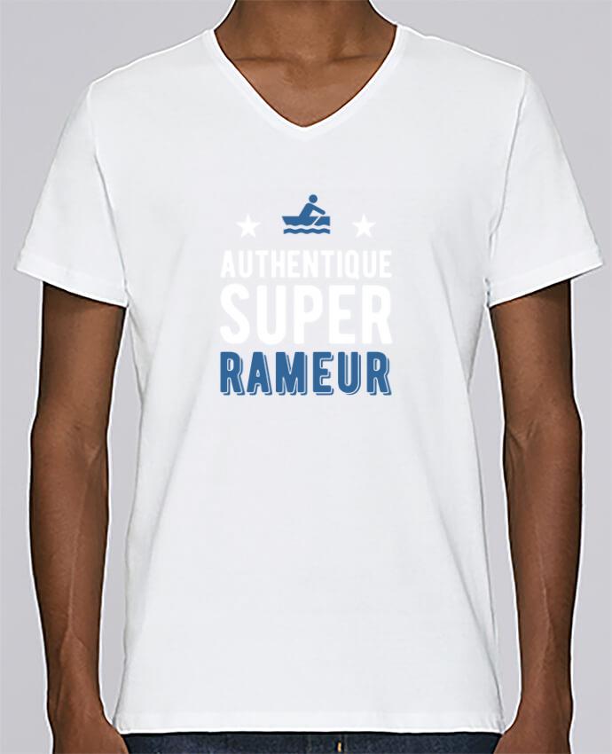 T-shirt V-neck Men Stanley Relaxes Authentique rameur by Original t-shirt