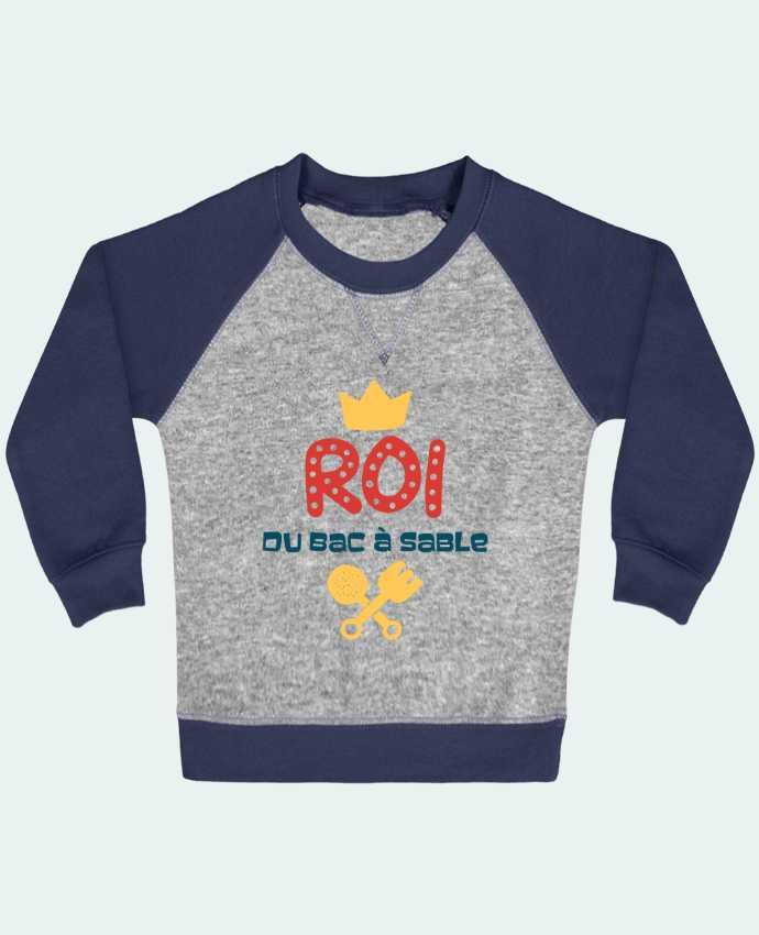 Sweatshirt Baby crew-neck sleeves contrast raglan Roi du bac à sable by tunetoo