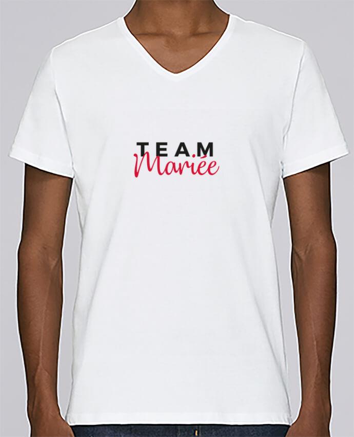 T-shirt V-neck Men Stanley Relaxes Team Mariée by Nana