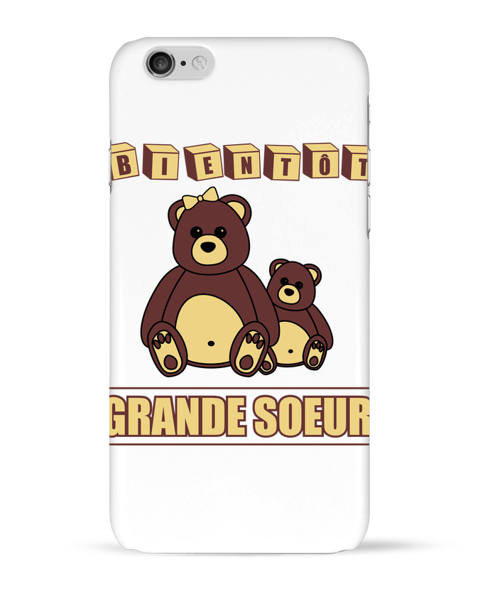 Case 3D iPhone 6 Bientôt Grande Soeur by Benichan