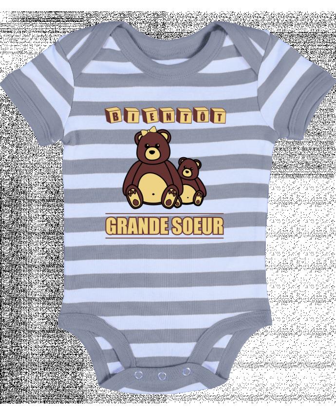 Baby Body striped Bientôt Grande Soeur - Benichan