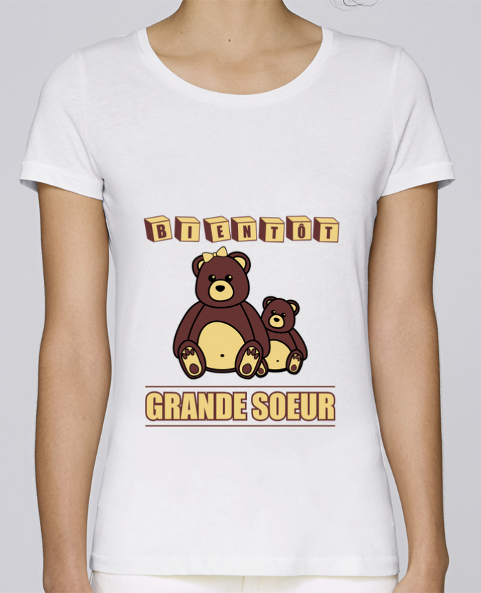 T-shirt Women Stella Loves Bientôt Grande Soeur by Benichan