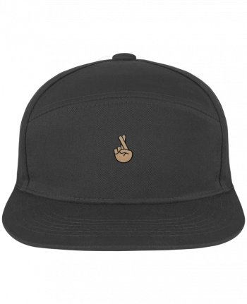Snapback Cap Pitcher Doigts croisés white by tunetoo