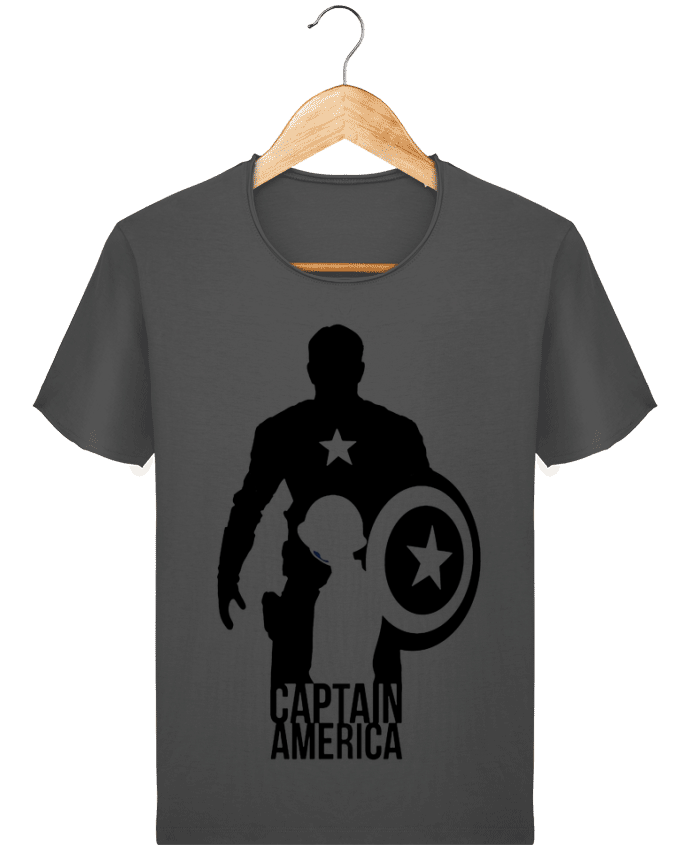 T-shirt Men Stanley Imagines Vintage Captain america by Kazeshini