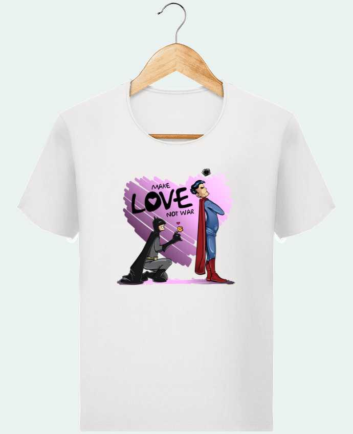 T-shirt Men Stanley Imagines Vintage MAKE LOVE NOT WAR (BATMAN VS SUPERMAN) by teeshirt-design.com