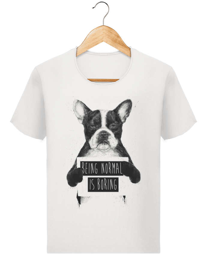 T-shirt Men Stanley Imagines Vintage Being normal is boring by Balàzs Solti