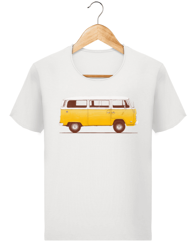T-shirt Men Stanley Imagines Vintage Yellow Van by Florent Bodart