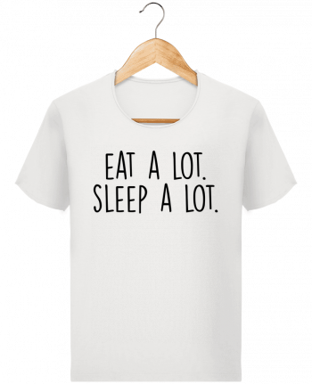 T-shirt Men Stanley Imagines Vintage Eat a lot. Sleep a lot. by Bichette