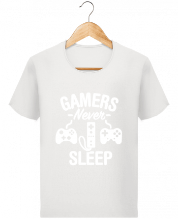 T-shirt Men Stanley Imagines Vintage Gamers never sleep by LaundryFactory
