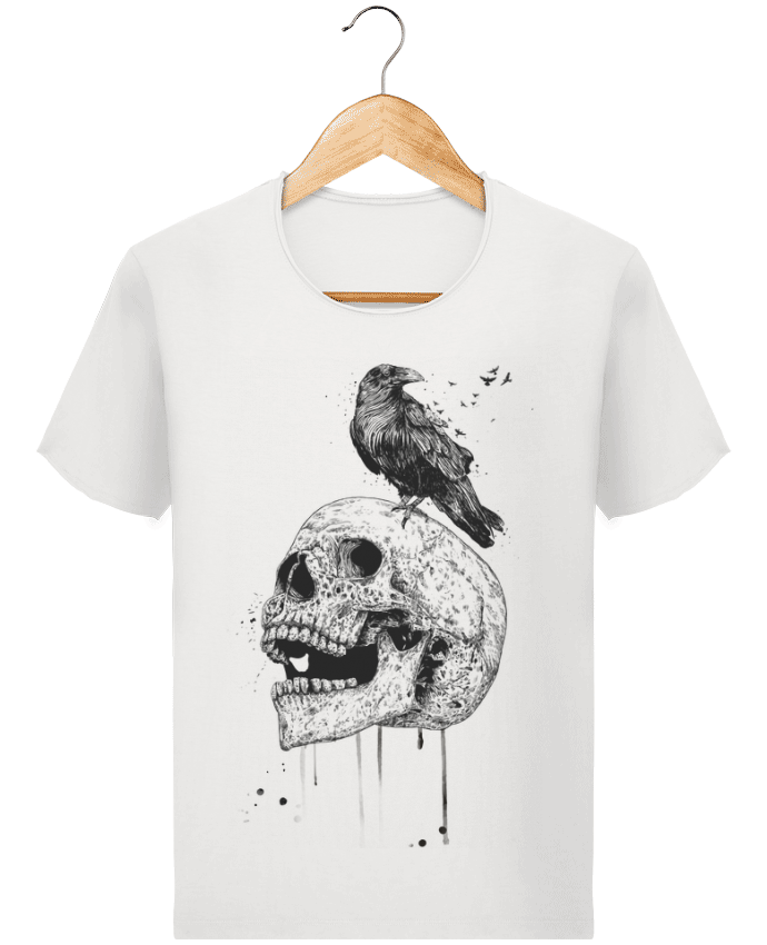 T-shirt Men Stanley Imagines Vintage New skull (bw) by Balàzs Solti